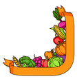 harvest decorative element autumn vector image vector image