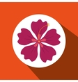 hawaiian flower design vector image