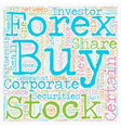 How To Choose A Profitable Share Or Forex Currency vector image vector image