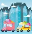 ice cream shop van vector image vector image