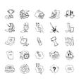 icons set school elements vector image vector image