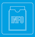 info folder icon outline