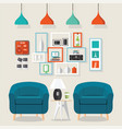 interior living room style vector image vector image