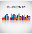 johannesburg skyline silhouette vector image vector image