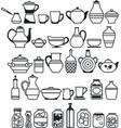 kitchen stuff5 vector image vector image