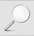 magnifying glass icon on transparent background vector image vector image