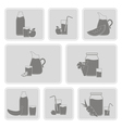 monochrome set with Fruit Juice Icons vector image vector image