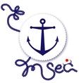 Nautical design anchor vector image vector image