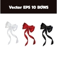 realistic bows for gift card design vector image vector image