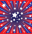 red white and blue rays vector image