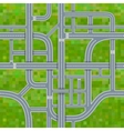 Road junctions on grass background seamless vector image