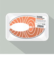 Salmon Sliced Pack vector image vector image