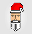 santa claus head icon isolated on white background vector image vector image