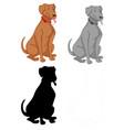 set dog character vector image