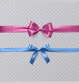 set of realistic bows and ribbon isolated on vector image
