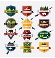 Set of vintage camping and outdoor activity logos vector image