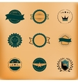 set retro stamps and badges vector image vector image