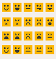 Set smileys emoticons vector image vector image