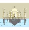 Taj Mahal Indian palace vector image