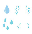 tears set drop flat cartoon character vector image vector image
