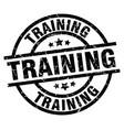 training round grunge black stamp vector image vector image