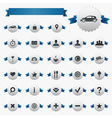 Web And Map Icons With Ribbons vector image vector image