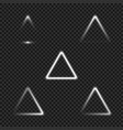 white glowing triangles collection for your design vector image