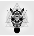 zebra head tribal pattern vector image vector image