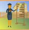 a real estate agent with abacus property vector image