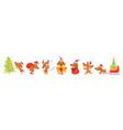 horizontal banner with christmas dogs vector image