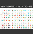 180 modern flat icons set of business analysis and vector image