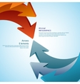 Abstract arrows Detailed vector image vector image