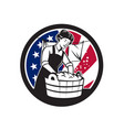american laundry usa flag icon vector image