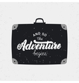 and so adventure begins card vector image vector image