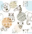 animals africa seamless pattern