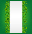 banner with clovers green background vector image