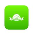 basketball icon green vector image