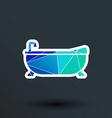 Bathtub bath icon button logo symbol concept vector image