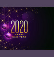 beautiful happy new year 2020 sparkles background vector image vector image