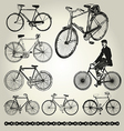 Bicycle retro vector image vector image