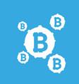 bitcoin sign icon for internet money crypto vector image vector image