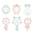 Boho tribal hipster labels vector image vector image