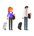 business trip characters vector image