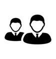 businessman icon male group of persons symbol vector image