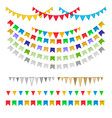 carnival garlands with pennants vector image