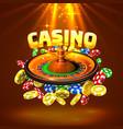 casino roulette big win vector image vector image