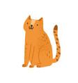 childish cute cat in simple scandinavian vector image vector image