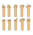 childish simple cartoon hand vector image vector image