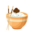 chinese rice food vector image