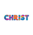 christ concept word art vector image vector image